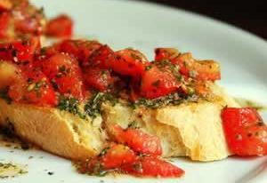 bruschetta grillat brod Bruschetta   grillat italienskt bröd